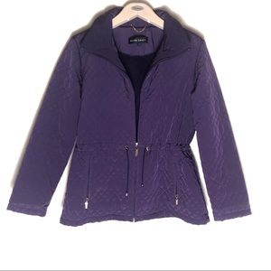 Ellen Tracy quilted jacket with gold detailing L